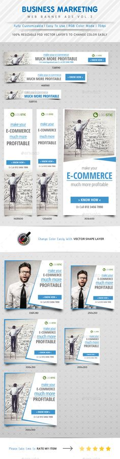 Marketing Web Banner Ads Template PSD   Buy and Download: http://graphicriver.net/item/marketing-web-banner-ads-vol3/10066250?ref=ksioks