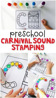 This carnival sound stamping activity is perfect for letter, sound, and fine motor practice with a farm theme. Great for tot school, preschool, or even kindergarten! Carnival Theme Crafts, Carnival Classroom, Carnival Activities, Classroom Crafts, Preschool Circus, Preschool Themes, Preschool Lessons, Preschool Activities, Montessori Preschool