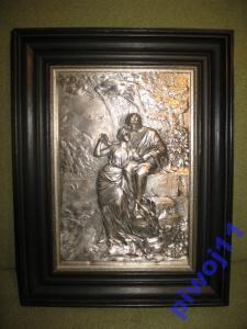 ZAKOCHANI - OBRAZ - RELIEF- CYNA SREBRZONA #1 (5609399967) - Allegro.pl - Więcej niż aukcje. Frame, Home Decor, Homemade Home Decor, A Frame, Frames, Hoop, Decoration Home, Interior Decorating, Picture Frames