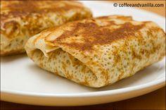 Spinach & Mushroom Filled Pancakes / Krokiety