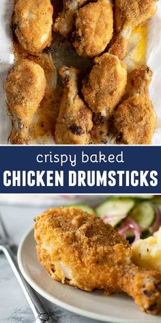 Crispy Baked Chicken Drumsticks Recipe - Taste and Tell - - Easy to make Crispy Baked Chicken Drumsticks - this chicken recipe is family friendly and full of flavor. The chicken drumsticks are so moist and juicy and super easy to prep. Oven Chicken Recipes, Oven Fried Chicken, Easy Baked Chicken, Cooking Recipes, Chicken Bites, Easy Recipes, Dinner Recipes, Sticky Chicken, Chicken Chili