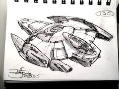 SpaceshipADay 130, Jeff Zugale on ArtStation at https://www.artstation.com/artwork/spaceshipaday-130