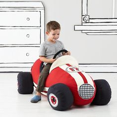 When it comes to plush race cars, our Grandest Prix Plush Speedster takes the checkered flag. It features tons of realistic vintage race car elements like an aerodynamic design, removable tires and racing stripes, all on a comfy plush body. Toddler Boy Gifts, Gifts For Kids, Toddler Boys, All Toys, Kids Toys, Land Of Nod, Ride On Toys, Baby Store, Boy Room