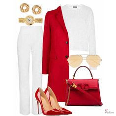Stylish power look!! Visit the link to shop the look!! Created with #fashiersapp👠💄 #outfitideas#animalprint #redcoat #redshoes #classyoutfit #coats #winterstyle #styleblogger#streetstyle#stylishlook#ootd#fashionaddict#workoutfit#personalstylist#virtualstylist#workstyle#businesscasual#styleinfluencer#fashionbloggers#fashions#outfitoftheday#ootdinspiration #whatiwear #stylegoals High Fashion Outfits, Work Fashion, Classy Outfits, Chic Outfits, Womens Fashion, Business Casual Outfits, Outfit Combinations, Work Attire, Autumn Winter Fashion