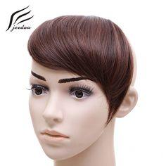 jeedou Synthetic Hair Bangs 30g Black Brown Blonde Asymmetry Fringe Gradient bangs 2Clips Clip In Hair Extensions Hairpieces