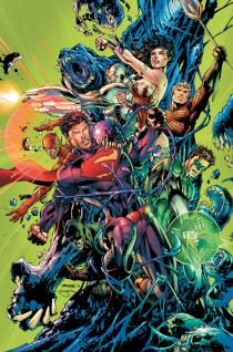 """JUSTICE LEAGUE #7 - Now that the team's origin story is complete, starting with this issue we shift to the present-day Justice League! What has changed? Who has joined the team since? Featuring artwork by Gene Ha, the story also reintroduces the team's greatest champion: Steve Trevor! Also starting in this issue: """"The Curse of Shazam!"""" featuring a story by Geoff Johns and art by Gary Frank! Discover Billy Batson's place in DC Comics – The New 52 as we reveal his all-new origin story…"""