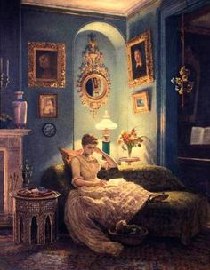 """I LOVE this! I had a calendar called """"The Reading Woman"""" with art depicting women reading. I have a few of them framed in my office."""