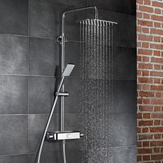 HSK AquaSwitch Softcube exposed thermostat, overhead shower W: 300 H: 2 D: 250 mm mirrored glass - 1001980-15 | Reuter-Shop.com