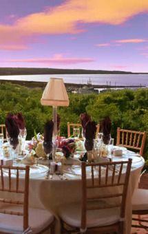 Table at the Beach Plum Inn, Martha's Vineyard. Stunning!