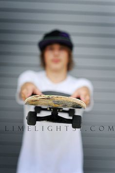 senior boy skateboarder--this idea but something he's actually into
