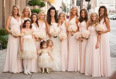 Pink Halter Dresses    Photography: Jay Lawrence Goldman Photography   Read More:  http://www.insideweddings.com/weddings/destination-beverly-hills-wedding-with-celebrity-chef-performers/467/