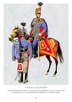 Hussar and Hussar Officer from the Regiment (Bocskái) Austrian Empire, Types Of Lighting, My Heritage, 15th Century, Historical Clothing, Guns, War, History, Denmark