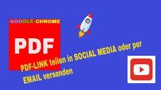 PDF-LINK TEILEN ODER PER EMAIL VERSENDEN - KOSTENLOS IN CHROME-BROWSER VIDEO-TUTORIAL DEUTSCH. - YouTube Studio App, Web Design, Google Chrome, Facebook Instagram, Videos, Online Marketing, Social Media, Link, Youtube