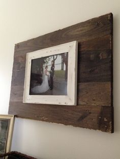 Wood and old frame. Easy, rustic wall art.