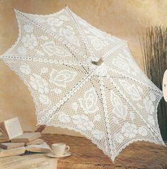 Lovely filet type umbrella with diagram