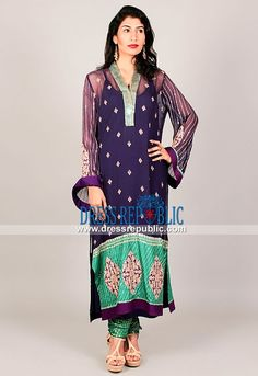 Designer Party Wear Dresses Online in Midnight Blue