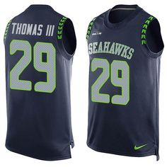 NFL Seattle Seahawks #29 Earl Thomas III Steel Blue Team Color Men's Stitched NFL Limited Tank Top Jersey