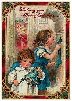 Ada Leonora Bowley - English - vintage Christmas postcard