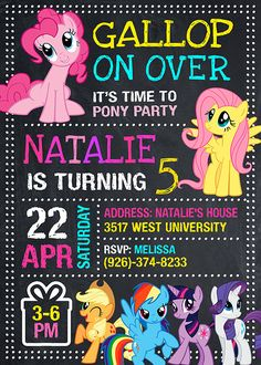 My Little Pony Birthday Party 5th Ideas Invitations