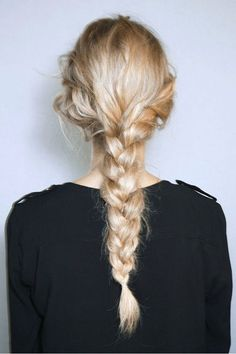 Messy Low Braid