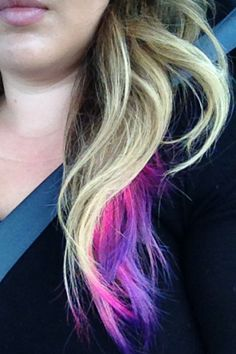 I love my pInk and purple tipped hair!!