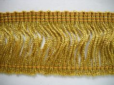 "2"" Metallic Gold Chainette Fringe 12 YD - DoveOriginalsTrims"