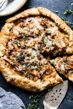 Filled with fresh thyme, wild mushrooms and buttery onions, with a rich and creamy crème fraîche base, this savory galette recipe is sure to become your number one stunner this foraging season. Best Mushroom Recipe, Mushroom Dish, Mushroom Tart, Mushroom Risotto, Chanterelle Mushroom Recipes, Mushroom Ideas, Mushroom Pizza, Wild Mushrooms, Stuffed Mushrooms