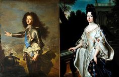 Louis XV's parents: Louis, Dauphin of France   and Marie Adélaïde of Savoy