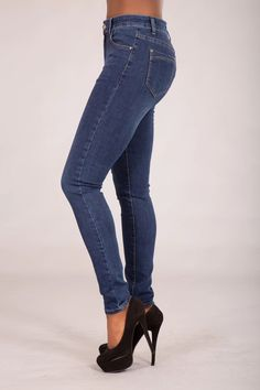 Niki Mid Waist Faded Classic Jeans – Lusty Chic Faded Jeans, Skinny Fit Jeans, Denim Fabric, Slim Legs, Jeans Style, Chic, Classic, How To Wear, Cotton
