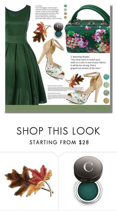 """""""Flower Bag"""" by edita-n ❤ liked on Polyvore featuring Anne Klein, Chantecaille and Terre Mère"""