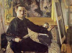 Gustave CAILLEBOTTE «Autoportrait au chevalet»