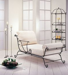 Chaise Longue Morfeo   Material: Forja o Hierro   Recamier de Forja.... Eur:1259 / $1674.47