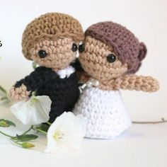 wedding amigurumi free crochet pattern with video tutorial ☂ᙓᖇᗴᔕᗩ ᖇᙓᔕ☂ᙓᘐᘎᓮ http://www.pinterest.com/teretegui