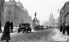 Jan Matejko Square, Kraków, Poland, 1933 Germany And Prussia, Planet Earth, Vintage Photography, Old Things, Street View, Black And White, History, Places, Travel
