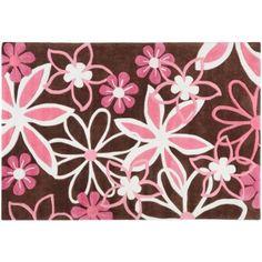 Pink And Brown Flower Rug Fl Flowers