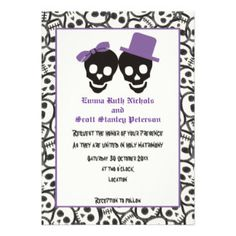 Halloween Wedding Cards, Halloween Wedding Card Templates, Postage, Invitations, Photocards & More