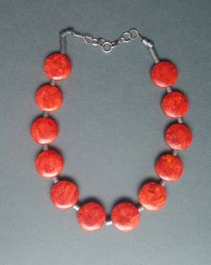 #Rednecklace #coral necklace ON SALE Gorgeous #realcoral necklace Bold #Chunkybeads #Gemstone artisan #Necklace