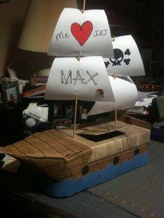 Valentines box - pirate ship