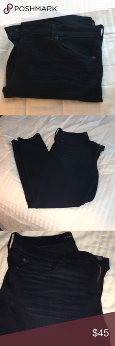 Express Skinny Dark Blue Jeans Perfect skinny legging fit! Very dark blue, not black! From Express Express Jeans Skinny