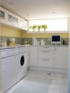 Dreamy sunny laundry room from Sarah's House season 2 http://www.hgtv.ca/sarahshouse