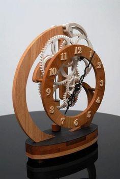 Resultado de imagem para wood gear clock