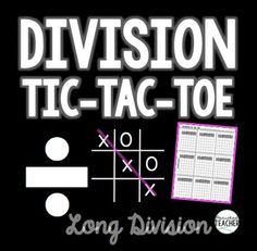 This long division game provides a FUN, engaging and interactive way for students to practice long division! This game is a sample from my Division bundle that provides MORE hands-on, engaging and FUN resources that get kids excited about division! CLICK HERE TO SEE THE COMPLETE DIVISION BUNDLE