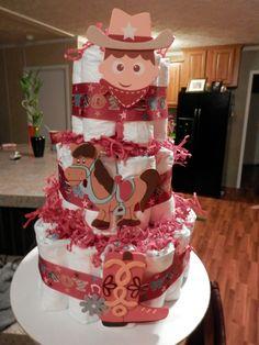 Cowboy diaper cake western theme