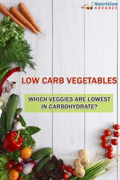 20 Low Carb Vegetables: this article shows how much carbohydrate is in each, along with their key nutrients and health benefits. via @nutradvance