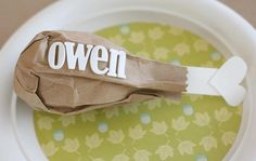 Thanksgiving Table Place Cards/Party Favors by Lisa Storms for Fiskars