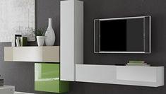 Hänge-Element 1-türig Box, 139 x 29 x 31 cm, weiß hochglanz