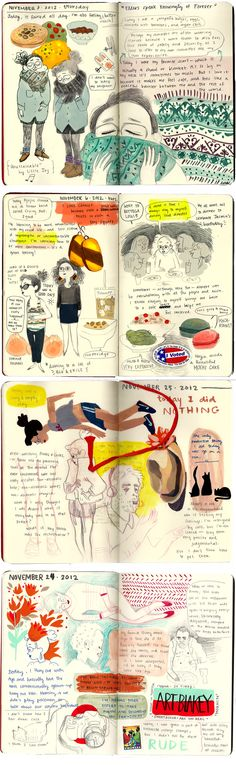Tiffany Ford's illustrated month-long diary   #journal   http://toffanyeveryday.tumblr.com/