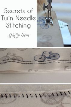 How to hem with a twin needle - use a double sewing needle to hem your knits - find all the tips and tricks in this post by Melly Sews