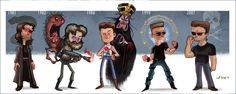 Kurt Russel's Character Evolution! Created by Jeff Victor. Big Trouble in Little China, anyone?…