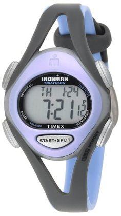 Timex Women's T5E511 Ironman Sleek 50-Lap Gray/Purple Resin Strap Watch - List price: $59.95 Price: $34.67 + Free Shipping